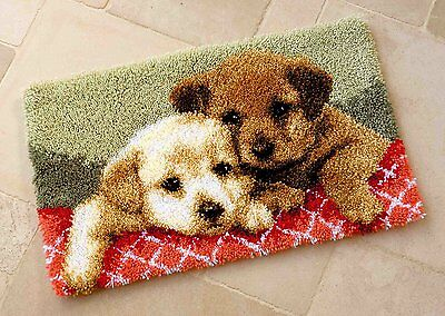 Vervaco - Latch Hook Rug Kit - Puppies -  PN-0143943