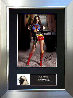 MEGAN FOX Autograph Mounted Reproduction Photo A4 Print no385