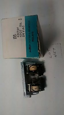 POTTER & BRUMFIELD KB17AY-24VAC 24VAC 4PDT LATCHING RELAY (Lot 457)