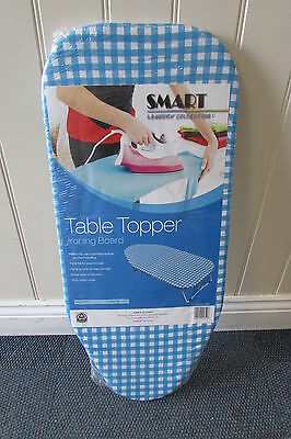 Table Top Ironing Board Motorhome/Caravan Blue/White Chequered