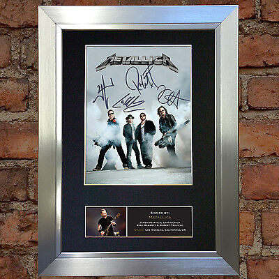 METALLICA Signed Autograph Mounted Photo Reproduction A4 Print 470