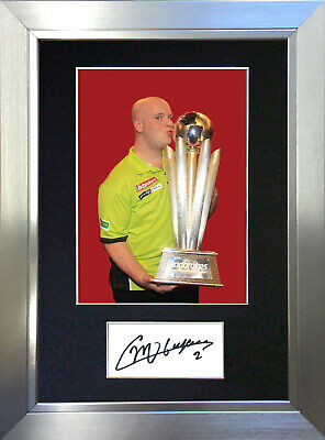 MICHAEL VAN GERWIN Darts Signed Autograph Mounted Photo Repro A4 Print no413