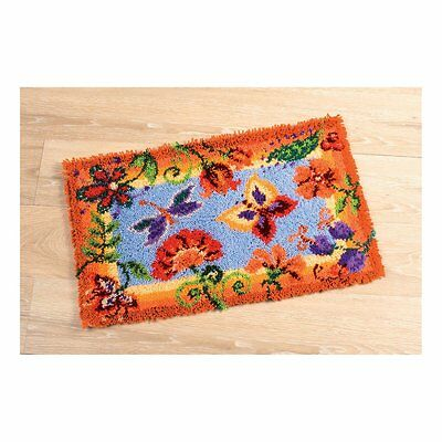 Vervaco - Latch Hook Rug Kit - Flowers & Butterflies -  PN-0145323