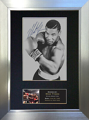 MIKE TYSON Signed Autograph Mounted Photo Repro A4 Print 51