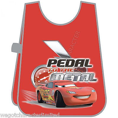 Official Licensed Disney Cars  Apron One Size 3+ Kids Boys Painting Cooking