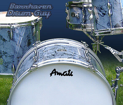 Amati, Vintage, Repro Logo - Adhesive Vinyl Decal, for Bass Drum Reso Head
