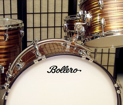 Bollero, 60s/70s Vintage, Repro Logo - Adhesive Vinyl Decal, for Bass Drum