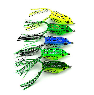 course fishing lures weedless Pike Zander hooked frog lure UK SELLER