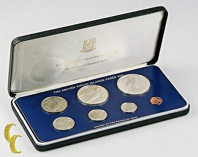 1980 British Virgin Islands Proof Sets, Rare, All Original 7 coins w/ Case