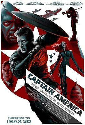 "CAPTAIN AMERICA THE WINTER SOLDIER - 13.5""x19"" Original Promo Movie Poster Imax"