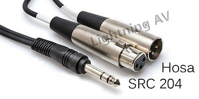 Hosa SRC-204 Insert Cable 1/4 in TRS to XLR3M and XLR3F 4 meter  SRC204 13 ft