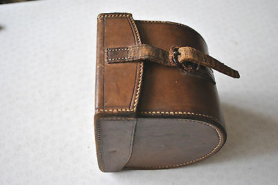 Good Late Victorian Large C Farlow & Co 191 The Strand D Block Leather Reel Case
