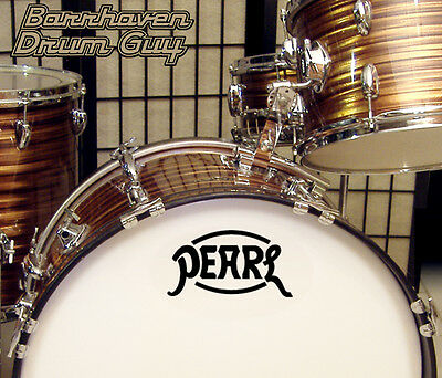 Pearl, 60s Vintage, vinyl, Adhesive, Repro Logo Decal, for Bass Drum Reso Head
