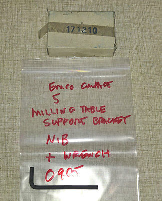 Emco Compact 5 Lathe Milling Table Support Bracket PN 171210  NIB 0905