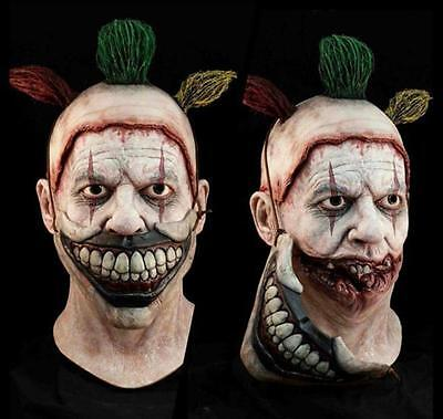 Deluxe 2 Pc Twisty The Clown American Horror Removable Mouth Mask Halloween Prop