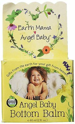 Earth Mama Angel Baby Bottom Balm, Natural Diaper Cream, Made with Organic to 2