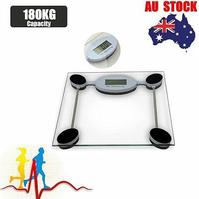 AU Electronic LCD Digital Body Scale 180kg/400lbs Weight Weighing Scale Gym