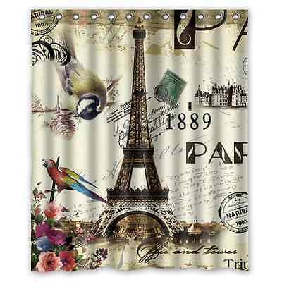 tahari home paris city scene eiffel tower shower curtain for