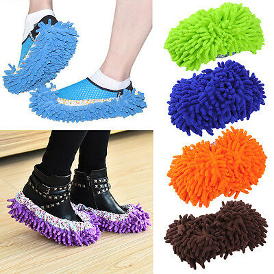 Hot Best 1 Pair Sweep Floor Cleaning Duster Cloth Housework Soft Slipper New WS