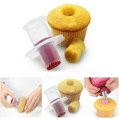 HOT New Kitchen CupcakeCorer Plunger Cutters Pastry Decorating Dividers