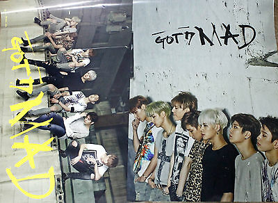 [GOT7]MAD(If you do) 2 Official Posters(Horizontal+Vertical) Folded