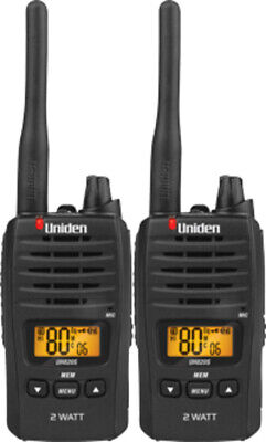 Uniden Uh820S-2 2W Uhf Twin Deluxe Handheld Radio 80 Channels