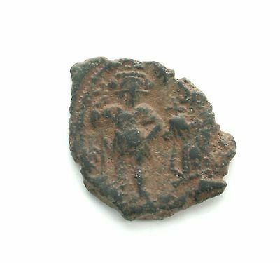 ARC325 Ancient Byzantine Coin Emperor Heraclius 629AD AE 1/2 Follis c20mm