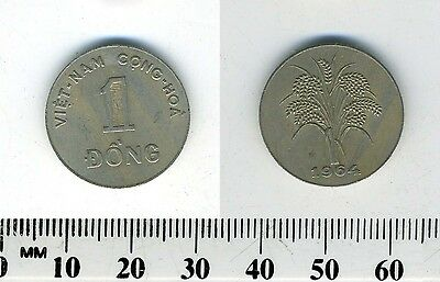 South Vietnam 1964 - 1 Dong Copper-Nickel Coin - Rice stalks
