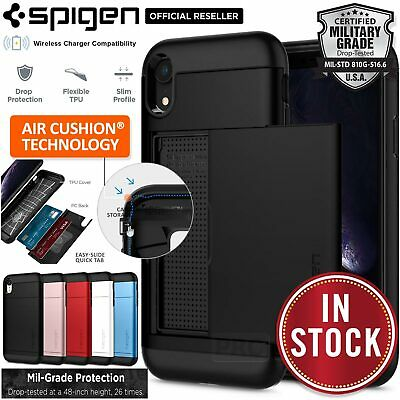 iPhone 8 Plus/8, 7 Plus/7 Case, Genuine SPIGEN Slim Armor CS Card Cover Apple