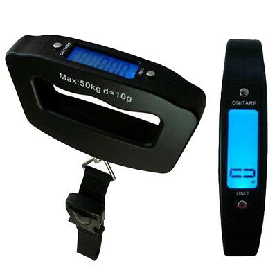 50KG Digital LCD Portable Handheld Travel Luggage Suitcase Bag Weigh Scale