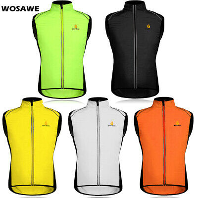Cycling Jacket Sleeveless Highly Visible Hi Viz Windproof Running Horse Riding
