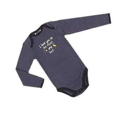 Ex Store Baby Boys Navy Bodysuit I Love You To The Moon & Back 0 3 6 9 12 18 24