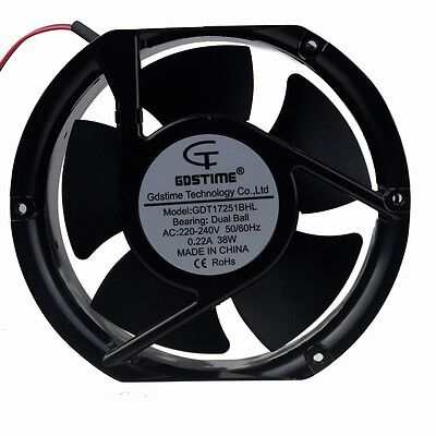 Ball Bearing 172mm x 150mm x 51mm 220V 240V Metal Industrial Cooling Fan 2wire
