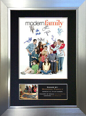 MODERN FAMILY Signed Autograph Mounted Reproduction Photo A4 Print 284