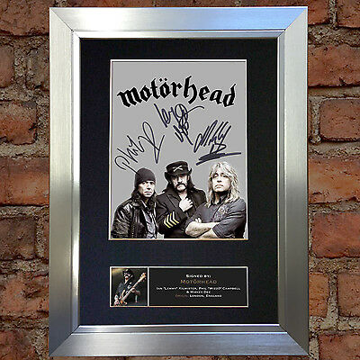 MOTORHEAD Signed Autograph Mounted Photo Reproduction A4 Print no472