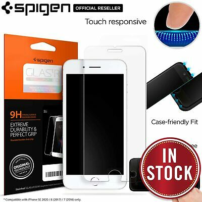 iPhone 8 Plus/8, 7 Plus/7 Screen Protector,Genuine Spigen GLAS.tR Tempered Glass