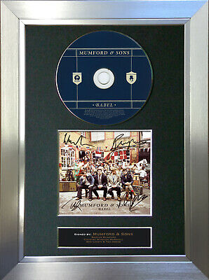 MUMFORD & SONS Babel Signed Autograph CD & Cover Mounted Print A4 52