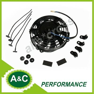"7"" Inch  Universal Slim Fan Push Pull Electric Radiator Cooling Fans 12V New"