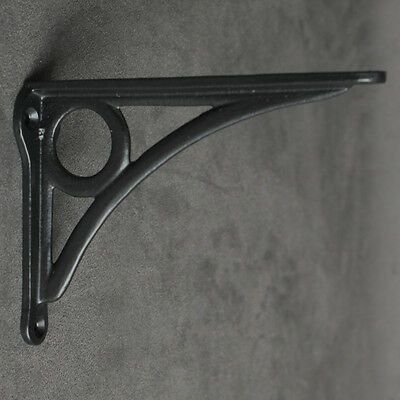 "Pair Black 6x4"" ANTIQUE HEAVY CAST IRON VICTORIAN SHELF WALL BRACKETS - BR25bx2"