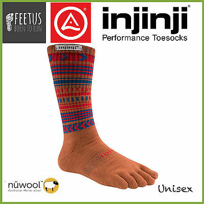 INJINJI Original Weight NuWool CREW FIT Merino Wool Toe Socks (Joshua Tree)