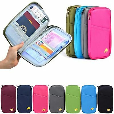 Passport Holder Travel Bag Wallet Purse Document Id Organiser Zipped Tickets Zip