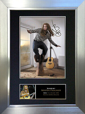 NEWTON FAULKNER Signed Autograph Mounted Photo Repro A4 Print 256