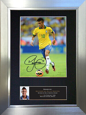 NEYMAR DA SILVA SANTOS Signed Autograph Mounted Photo Repro A4 Print 403 no461