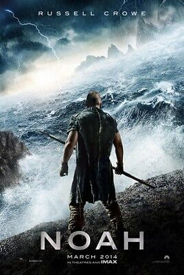 NOAH - 2014 - original 2-Sided 27X40 ADVANCE Movie Poster - RUSSELL CROWE