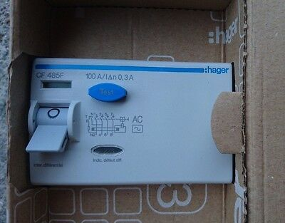 Hager CF485F Differential switch 4P 100A 300mA AC