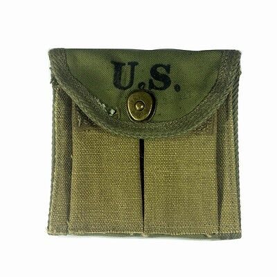 WW2 WWII US 1943 M1 Garand CARBINE POUCH CANVAS RIFLE MAG RAINIER BELL