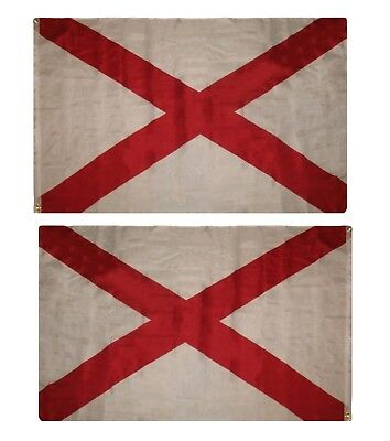 3x5 State of Alabama 2 Faced 2ply Double Sided Wind Resistant Flag 3'x5' Grommet
