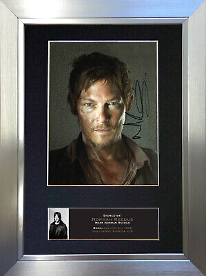 NORMAN REEDUS The Walking Dead Signed Autograph Mounted Repro Photo A4 Print 560