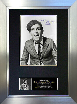 NORMAN WISDOM Signed Autograph Mounted Reproduction Photo A4 Print 29