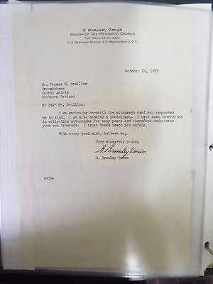 G. Bromley Oxnam - 1959 - Typed Letter Signed